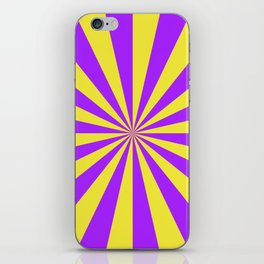 Sunbeams in Violet and Yellow iPhone Skin