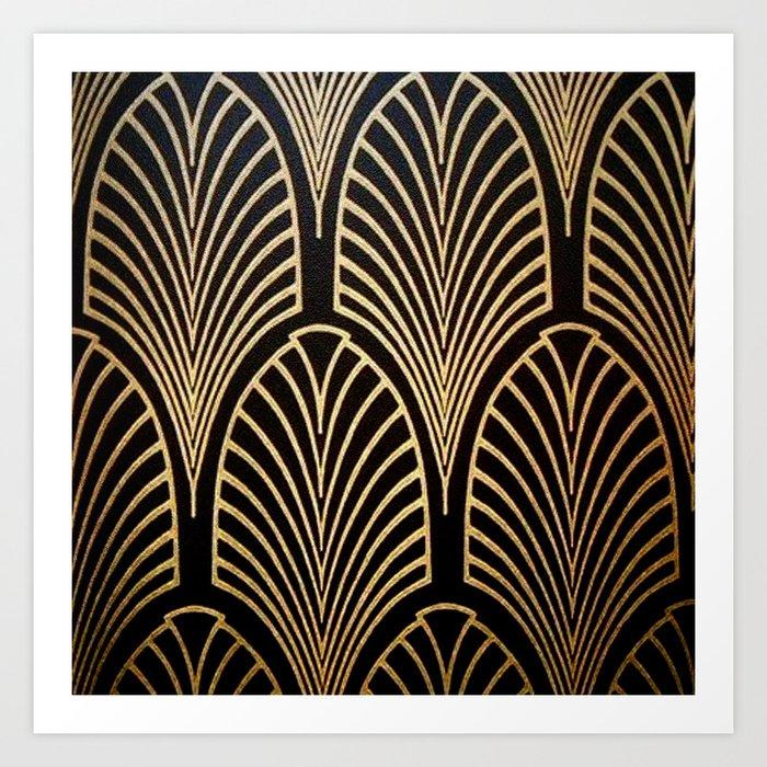 Art nouveau Black,bronze,gold,art deco,vintage,elegant,chic,belle époque Kunstdrucke