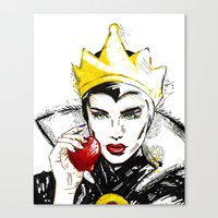 evil queen Canvas Prints featuring Evil Queen by Dalles Wilie