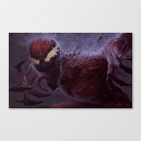 carnage Canvas Prints featuring Carnage by MATT DEMINO