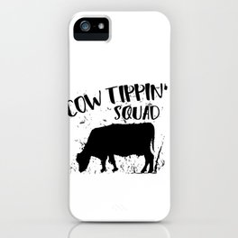 Funny Cow Tipping Design - Cow Lover Gag Gifft iPhone Case