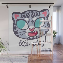 Baby Big Cats Playful Snow Leopard Cub Wall Mural