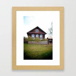 A Village House in the Mari Republic Framed Art Print