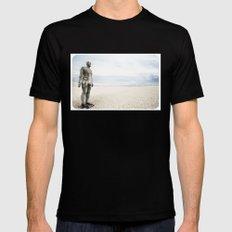 Crosby Beach Man  MEDIUM Black Mens Fitted Tee