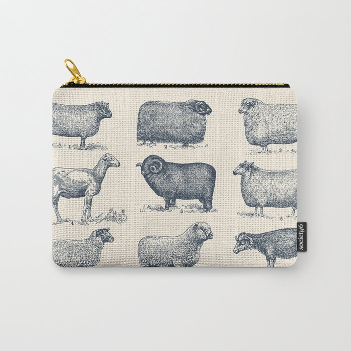 Types of Sheep Carry-All Pouch