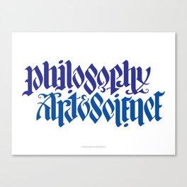 Philosophy, Art & Science Canvas Print