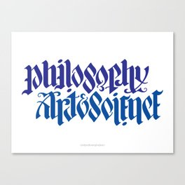 Philosophy, Art & Science Canvas Print