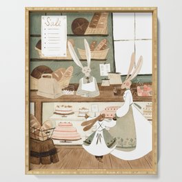 Bunny Bakery Serving Tray