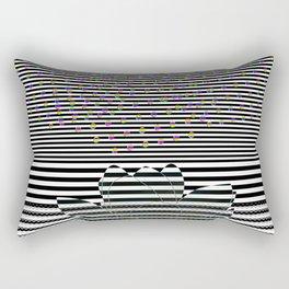 Lotus Flower and Stripes Disco Background Rectangular Pillow
