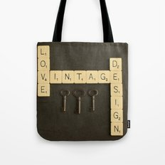 Love Vintage Design Tote Bag