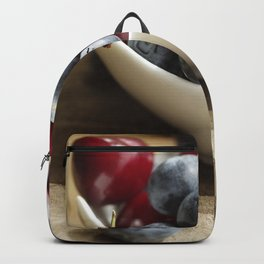 Fresh cherries and blueberries Kitchen Still Life Backpack