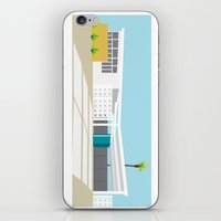 mid century modern iPhone & iPod Skins featuring mid-century modern house four by Aubrey Doodle