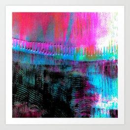 Pink line S43 Art Print