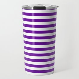Halloween Two color stripes Violet and White Travel Mug