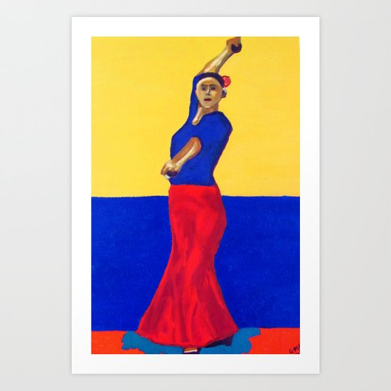 The Flamenco Dancer - ANALOG zine Art Print