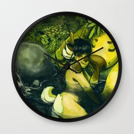 Water forest Wall Clock