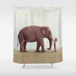 one amazing elephant shower curtain