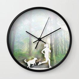 Forest Run Wall Clock