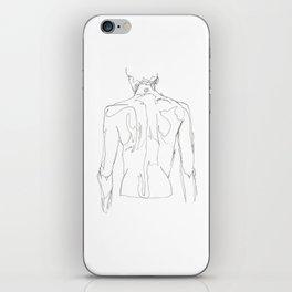 Line XVII (male [back]) iPhone Skin