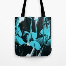 Blue Flamingos Tote Bag