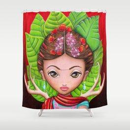 Frida Friducha Shower Curtain