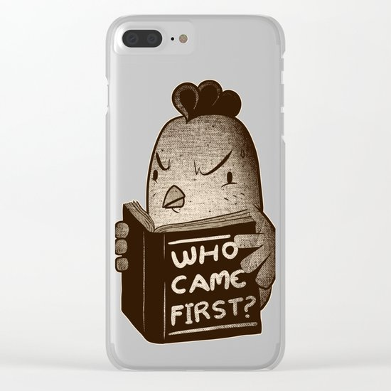 Chicken Who Came First Clear iPhone Case