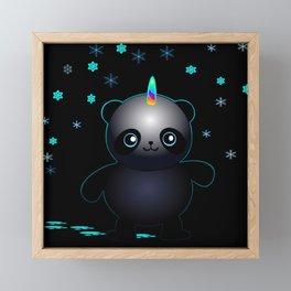 Glow in the Dark Pandacorn Framed Mini Art Print