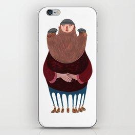 King Beardy iPhone Skin
