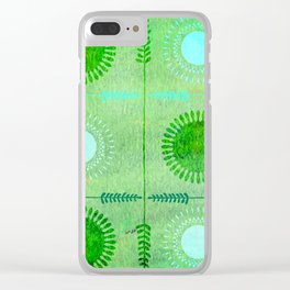 Green Peace Discs of Light Clear iPhone Case