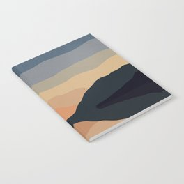 Sunset Mountain Reflection in Water Notebook
