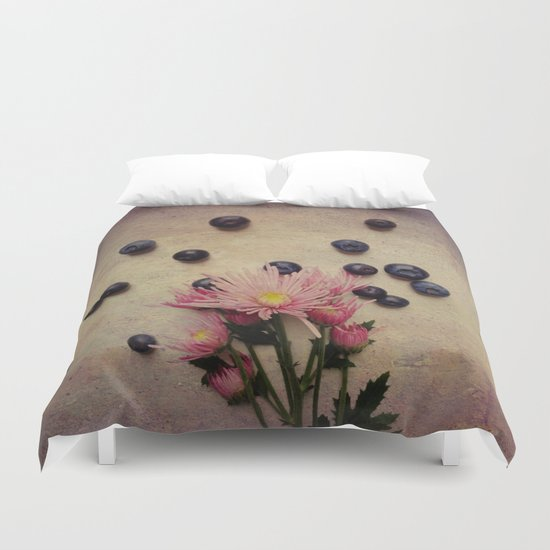 Blooms and Berries Duvet Cover
