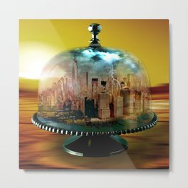 Manhattan Under the Dome Metal Print