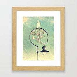 Glasgow Streetlamp Framed Art Print