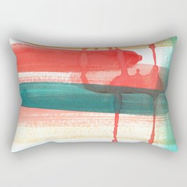 Abstract Watercolor Painting in Sunset Colors Rectangular Pillow