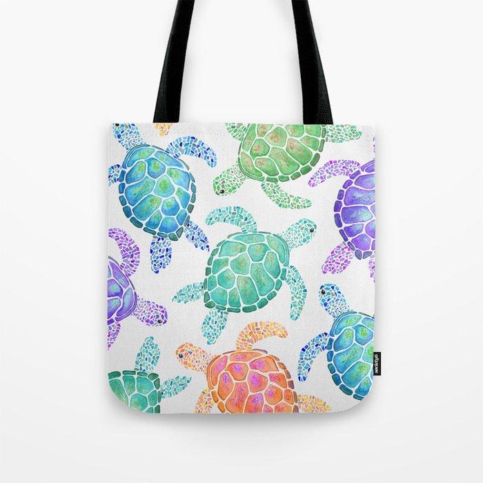 Sea Turtle - Colour Umhängetasche