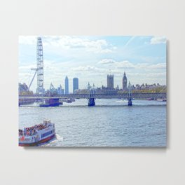 A view of the Thames Metal Print