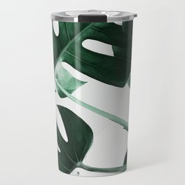 Monstera, Leaves, Plant, Green, Scandinavian, Minimal, Modern, Wall art Travel Mug