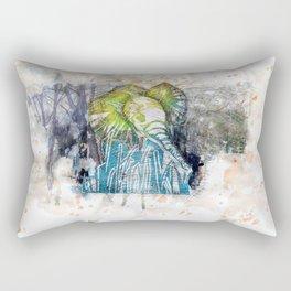 Orangy Elephant Rectangular Pillow