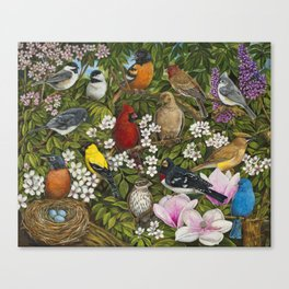 Garden Birds Canvas Print