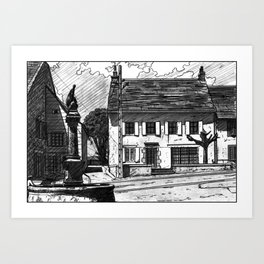 Montboudif, birthplace of Geoges Pompidou Art Print