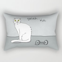 No Exercise Cat by Caleb Croy Rectangular Pillow