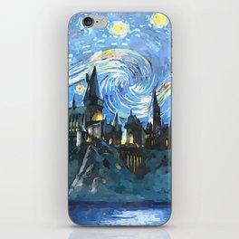 Starry Night in H magic castle iPhone Skin