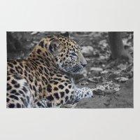 jaguar Area & Throw Rugs featuring Jaguar by Veronika