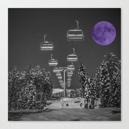 Chair Lift to the Purple Moon Canvas Print