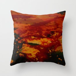 Confusing Colour Structures Throw Pillow