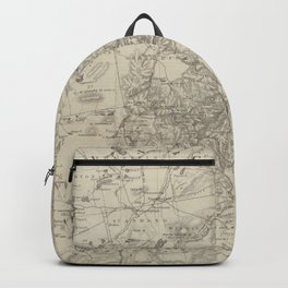 Vintage Map of The Adirondack Mountains (1874) Backpack