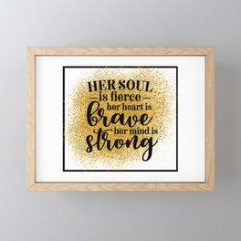 Her Soul Is Fierce Framed Mini Art Print