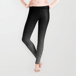 Silver & Black Glitter Gradient Leggings