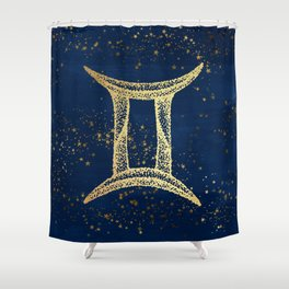 Gemini Zodiac Sign Shower Curtain