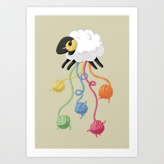 Wool Thread Art Print